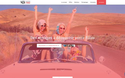 Copines de Voyage website homepage