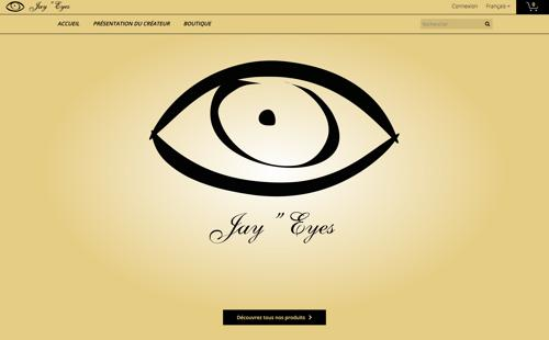 JAY Eyes page d'accueil